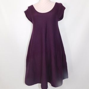 French connection swing sweater eggplant dress